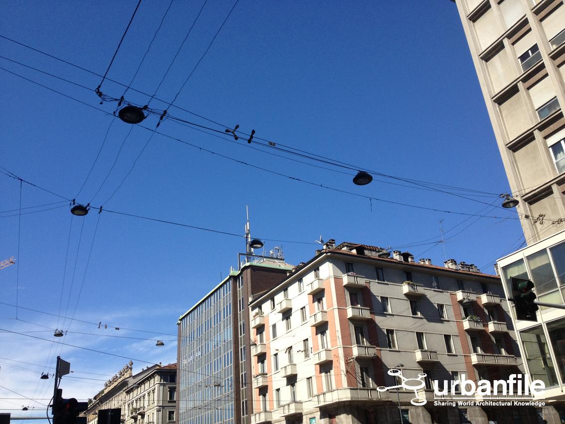 Milano porta venezia le luci aeree cavi e quantaltro