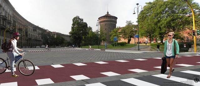 Milano Pista ciclabile Castello