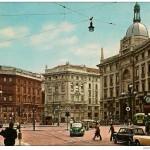 Piazza Cordusio seconda meta' anni 60 ripresa da via Cordusio