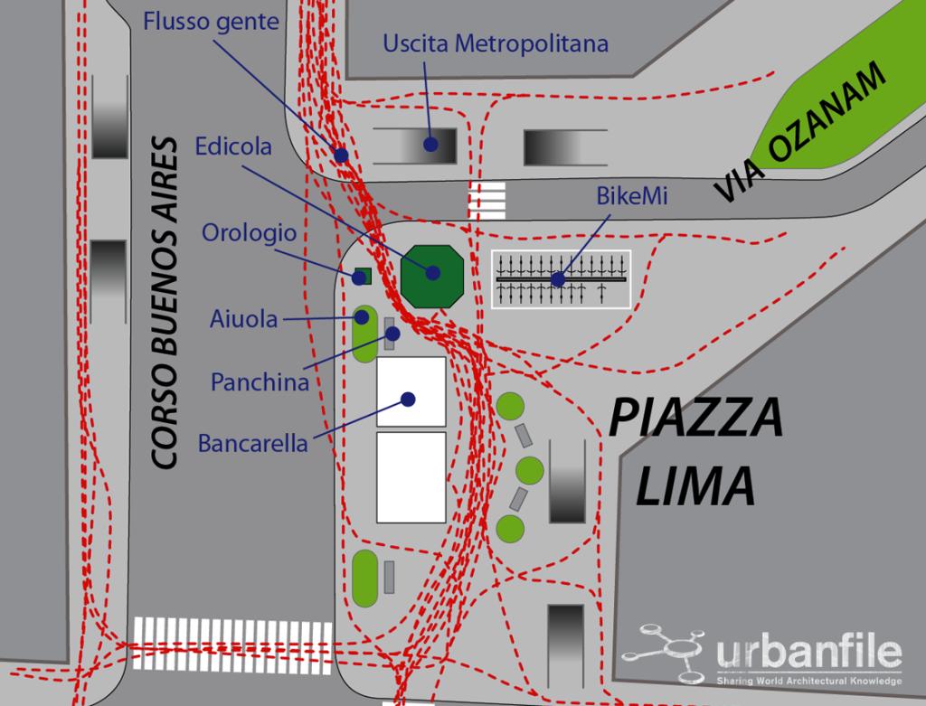 Piazza Lima Flusso gente