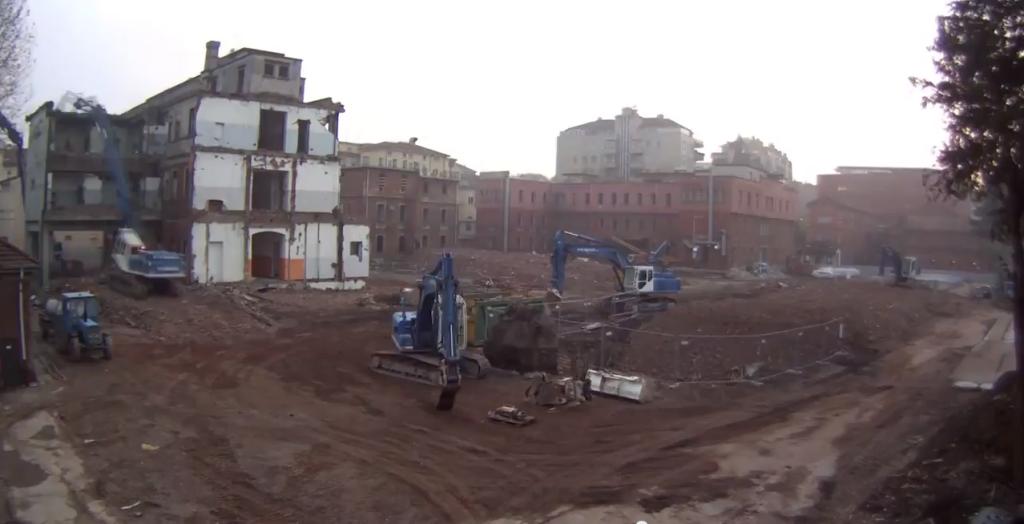 Demolizione Policlinico Milano 1