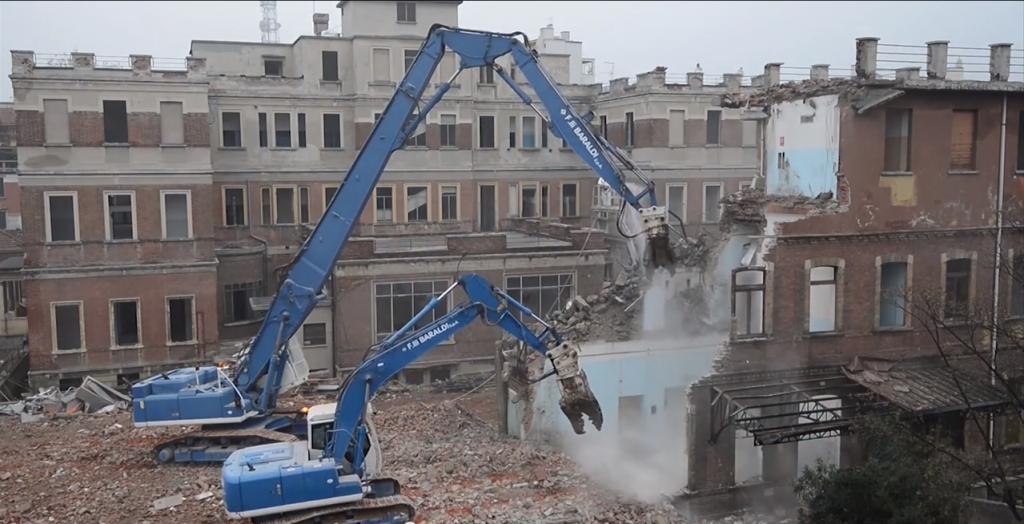 Demolizione Policlinico Milano 7