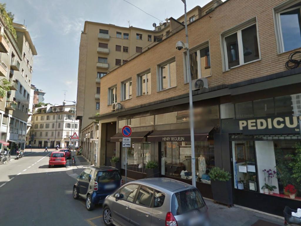 Via Caminadella dove sorgeva il Palazzo Visconti