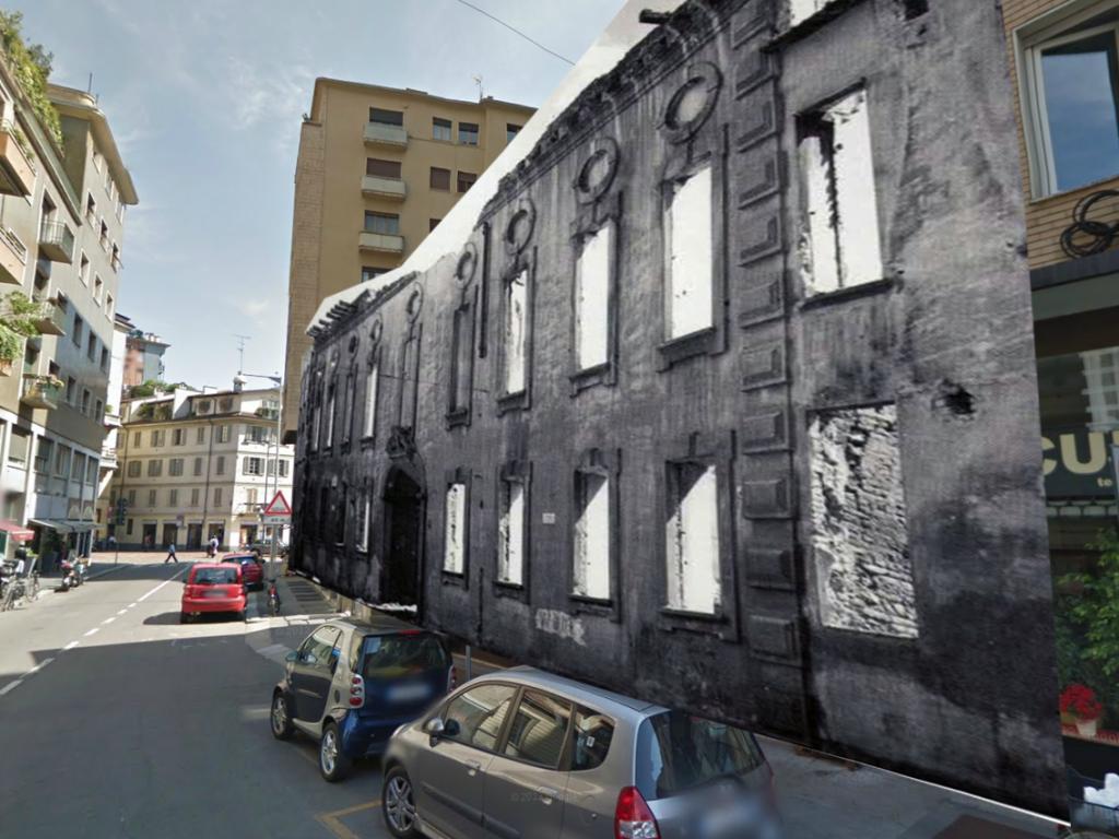 Via Caminadella dove sorgeva il Palazzo Visconti 2