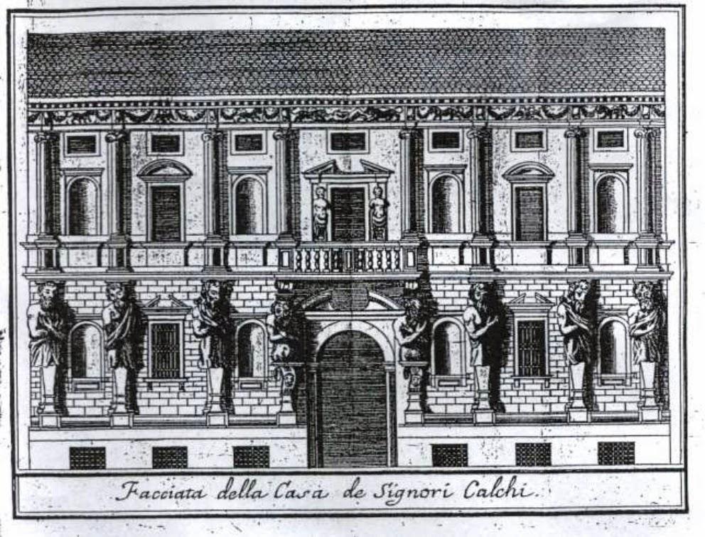 Casa degli Omenoni Lattuada Serviliano 1738