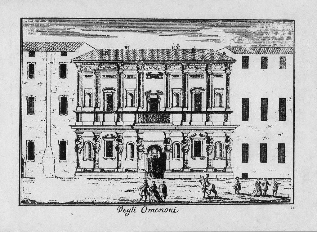 Casa degli Omenoni Marcantonio Dal Re 1730 circa