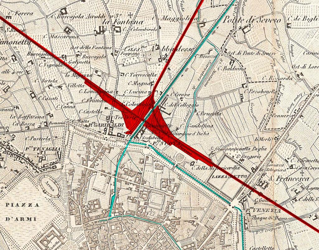 Mappa 1860 Area Garibaldi