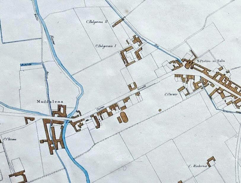 Il Borgo della Maddalena, San Pietro in Sala e l'Olona 1800