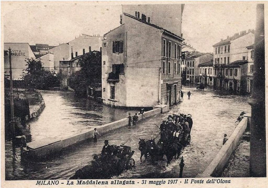 La Maddalena allagata 31 Maggio 1917 il Ponte