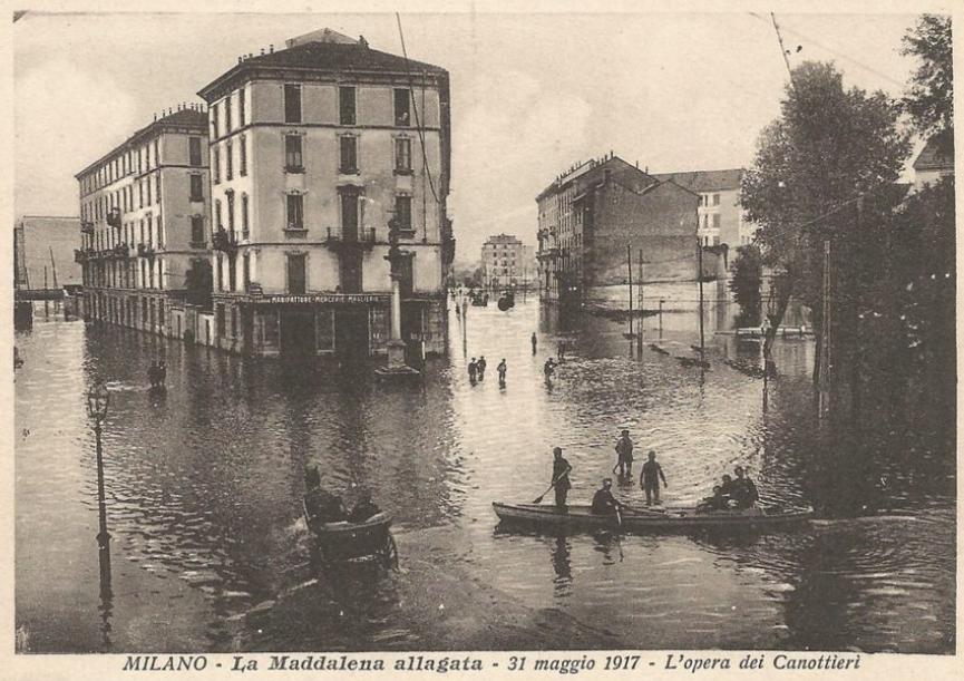La Maddalena allagata 31 Maggio 1917
