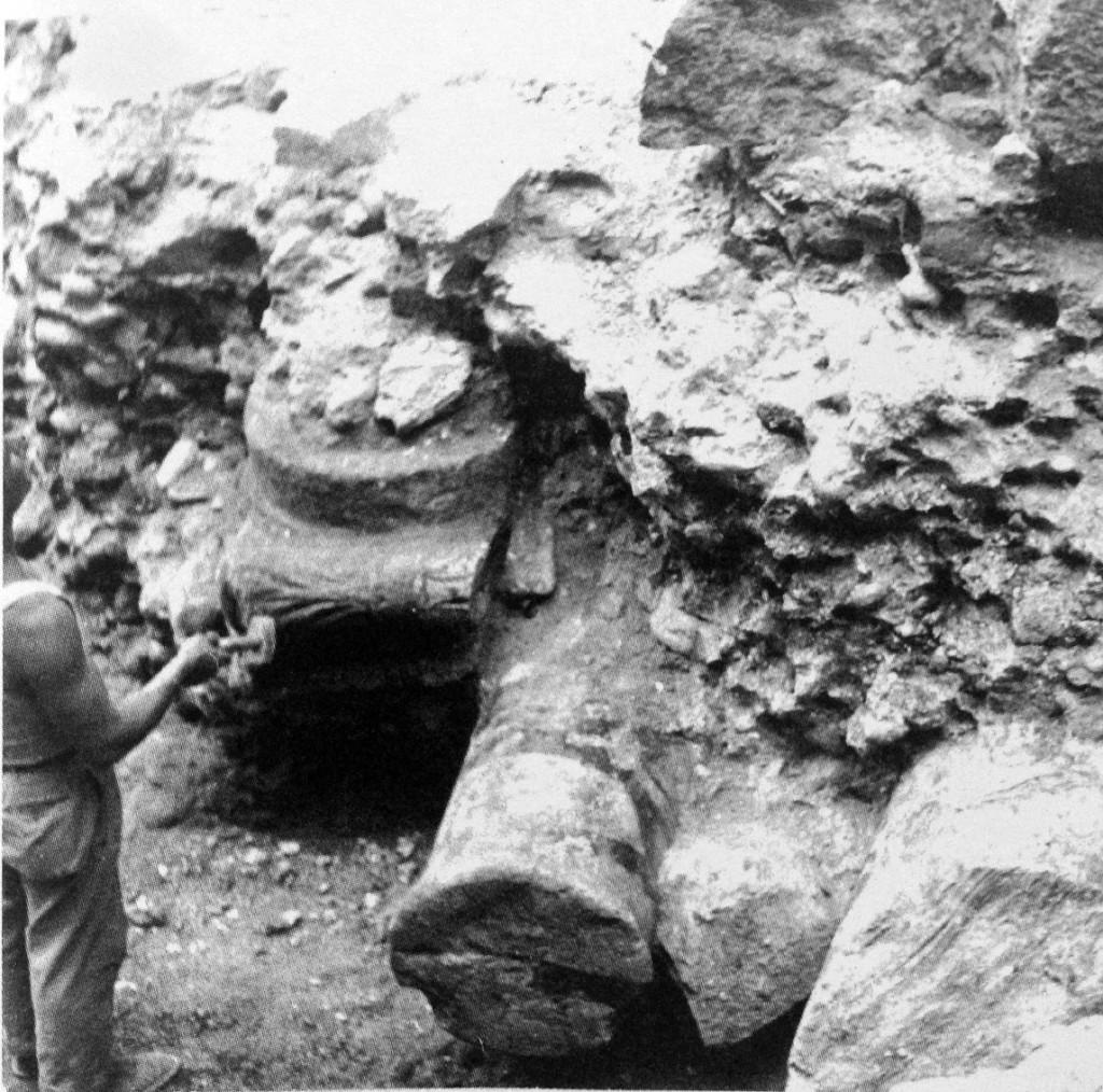 Mediolanum Mura repubblicane con resti reimpiego via del Lauro