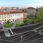 Rendering Piazza Oberdan Porta Venezia 2