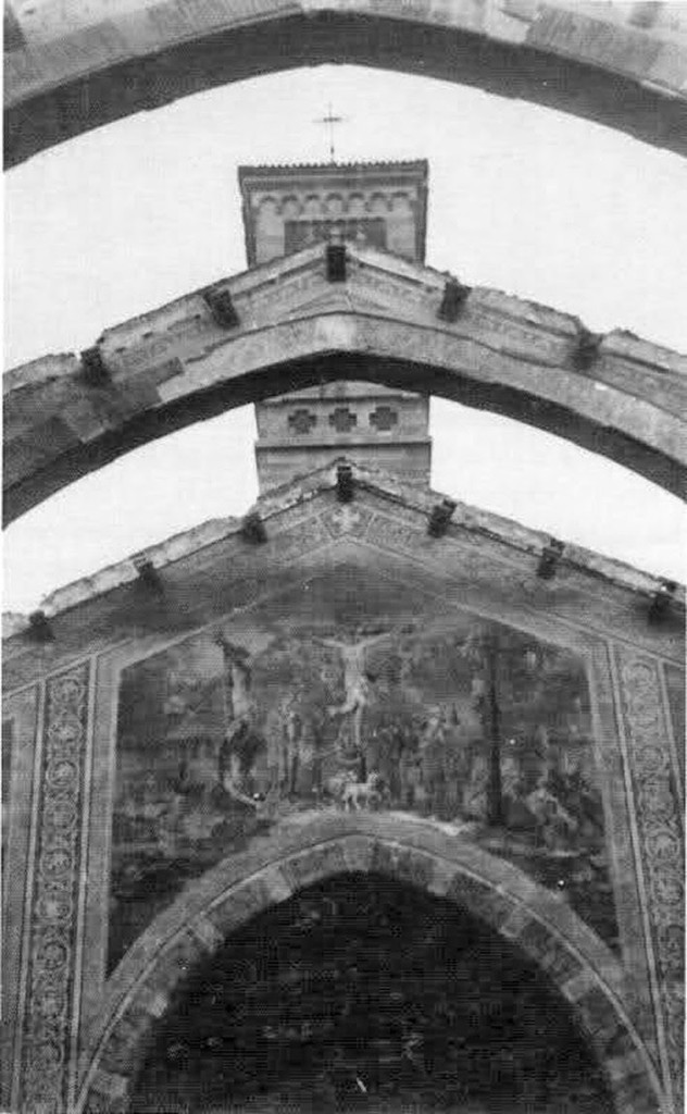 San Gregorio Magno 13 agosto 1943 dopo i bombardamenti il soffitto