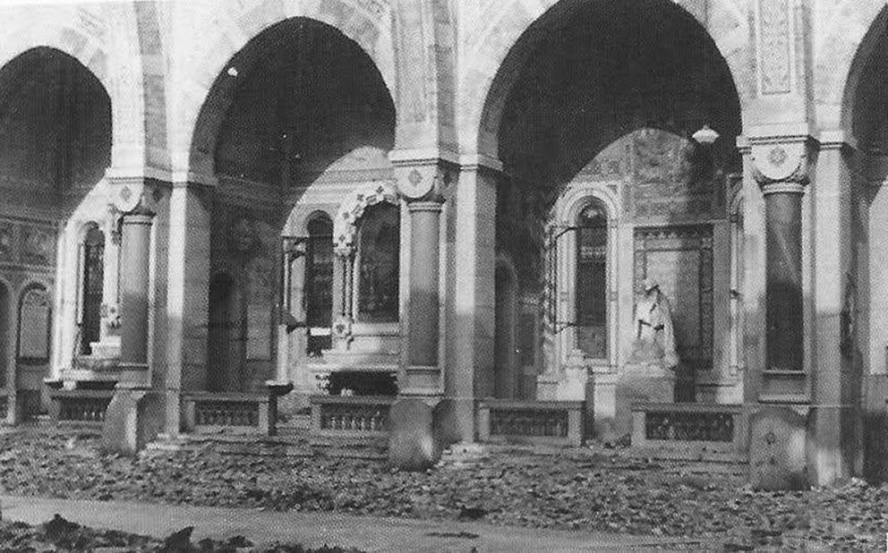 San Gregorio Magno 1943 dopo i bombardamenti Cappelle
