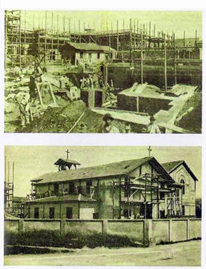 Le prime costruzioni al posto del Lazzaretto con la costruzione della chiesa in legno