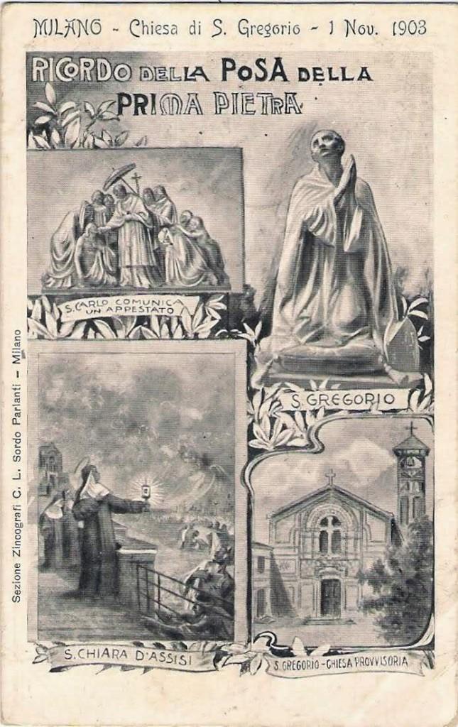 San Gregorio Posa della prima pietra