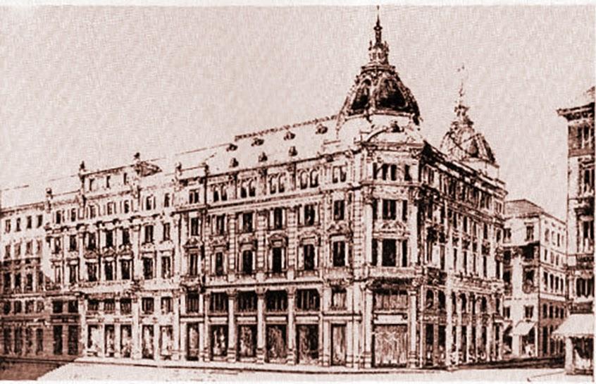 Via Torino, Palazzo del Commercio Progetto