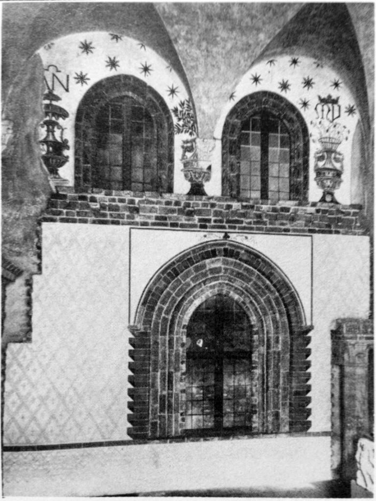Casa Missaglia, ricostruzione di parte della facciata al Castello Sforzesco