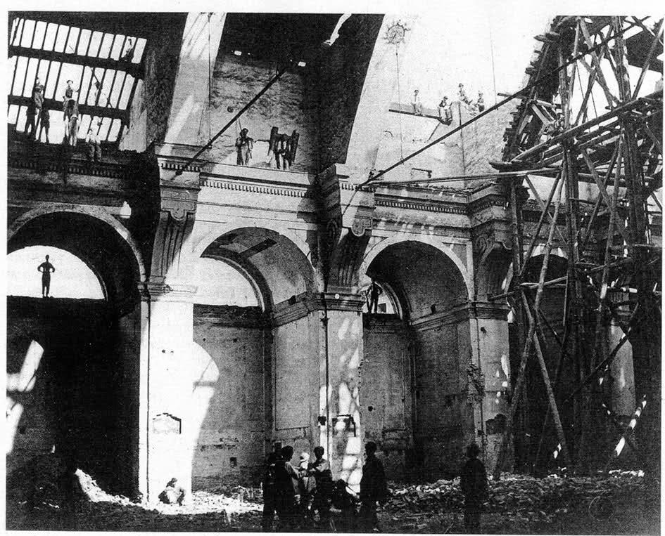 Santa Maria del Giardino Interno durante la demolizione