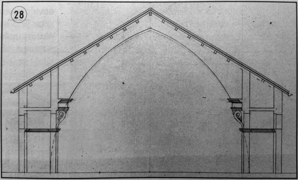 Santa Maria del Giardino disegno tecnico 1
