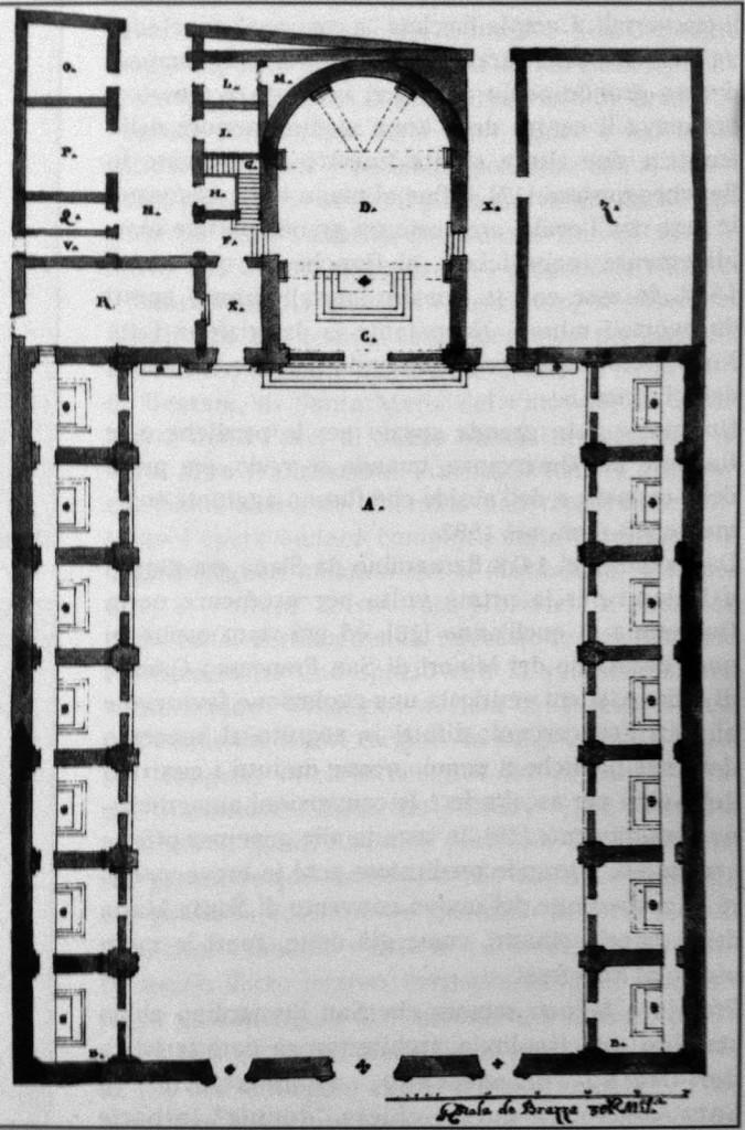 Santa Maria del Giardino disegno tecnico 2