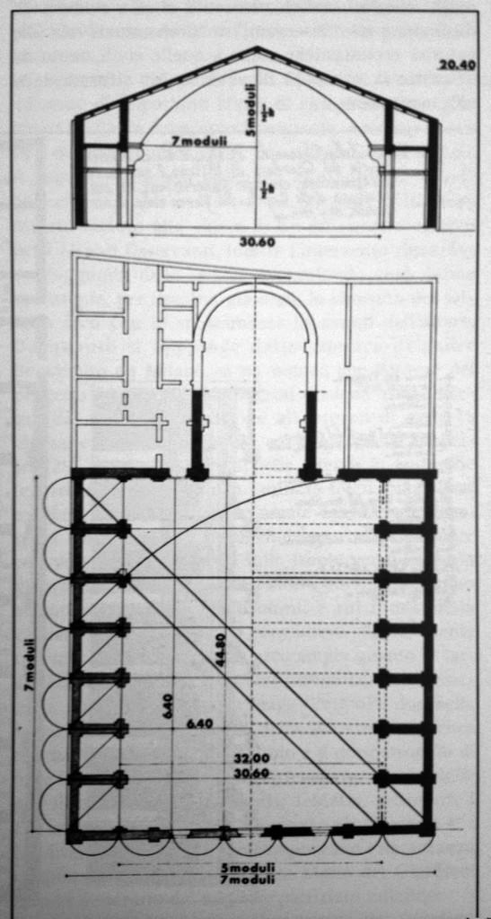 Santa Maria del Giardino disegno tecnico 4