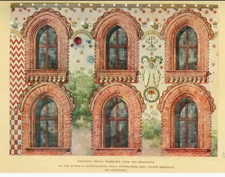 Via Spadari. Casa Missaglia ricostruzione pittorica