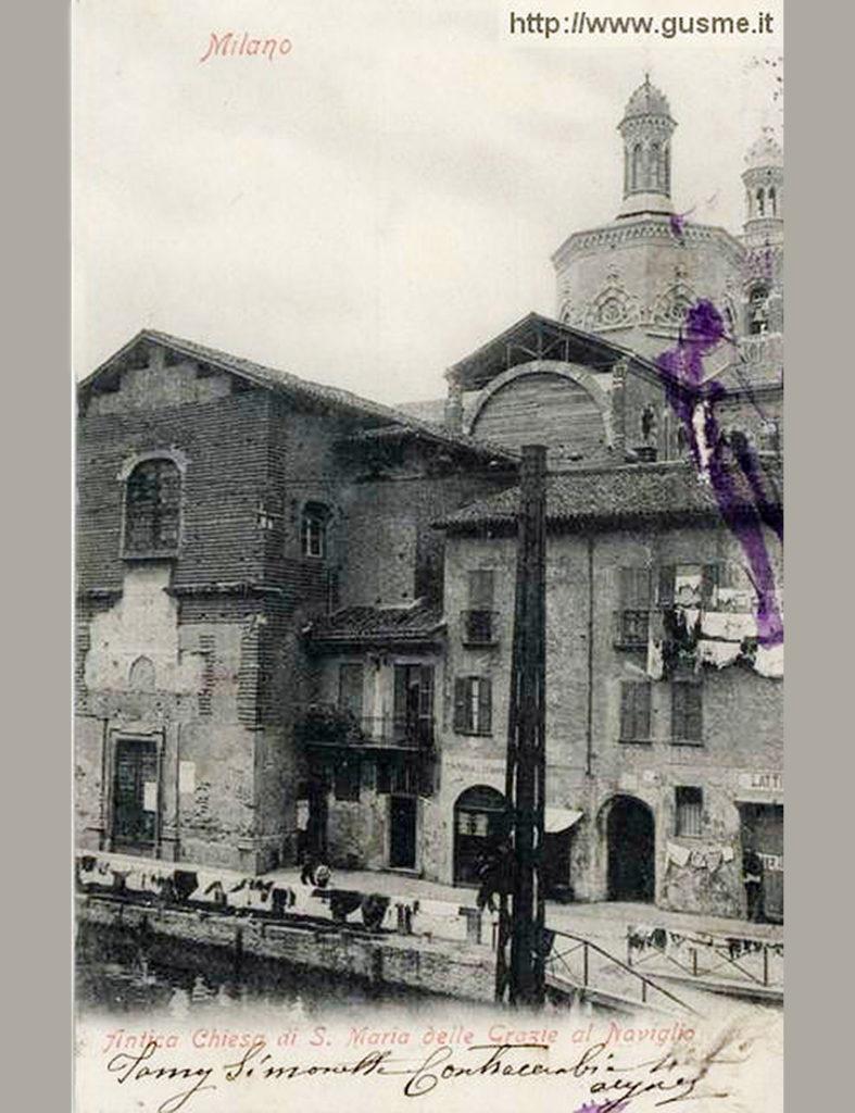 Le due chiese sovrapposte in una vecchia cartolina