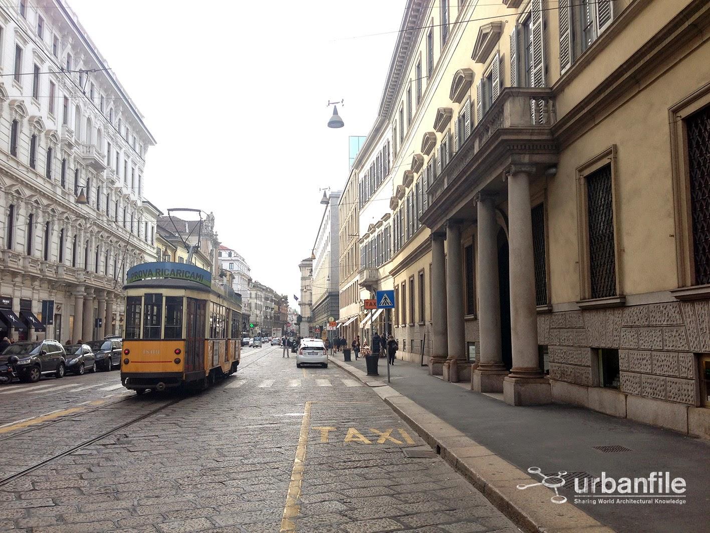 Milano porta nuova via manzoni e l 39 arredo urbano for Arredo in via cavaliere catania