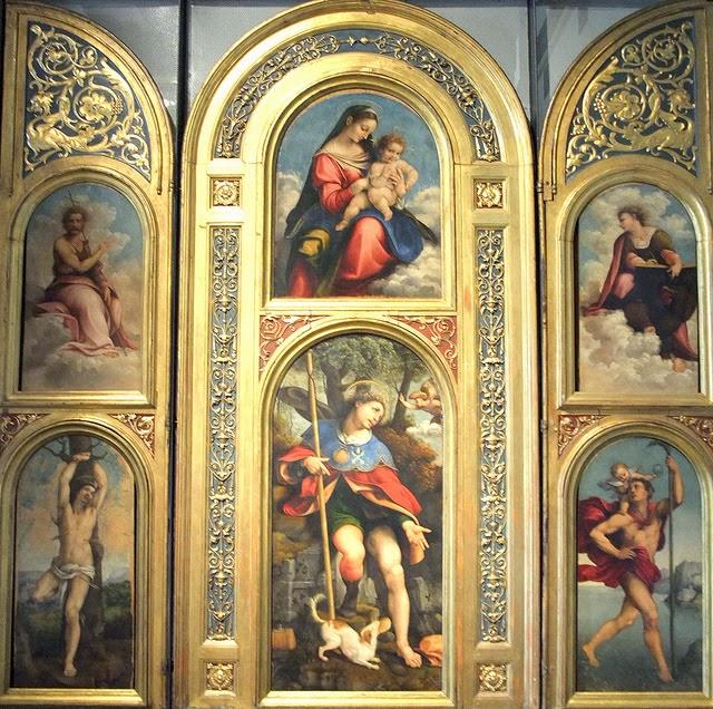 Cesare da Sesto 1523, Polittico di San Rocco