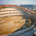 Palasport dopo la nevicata del 1986