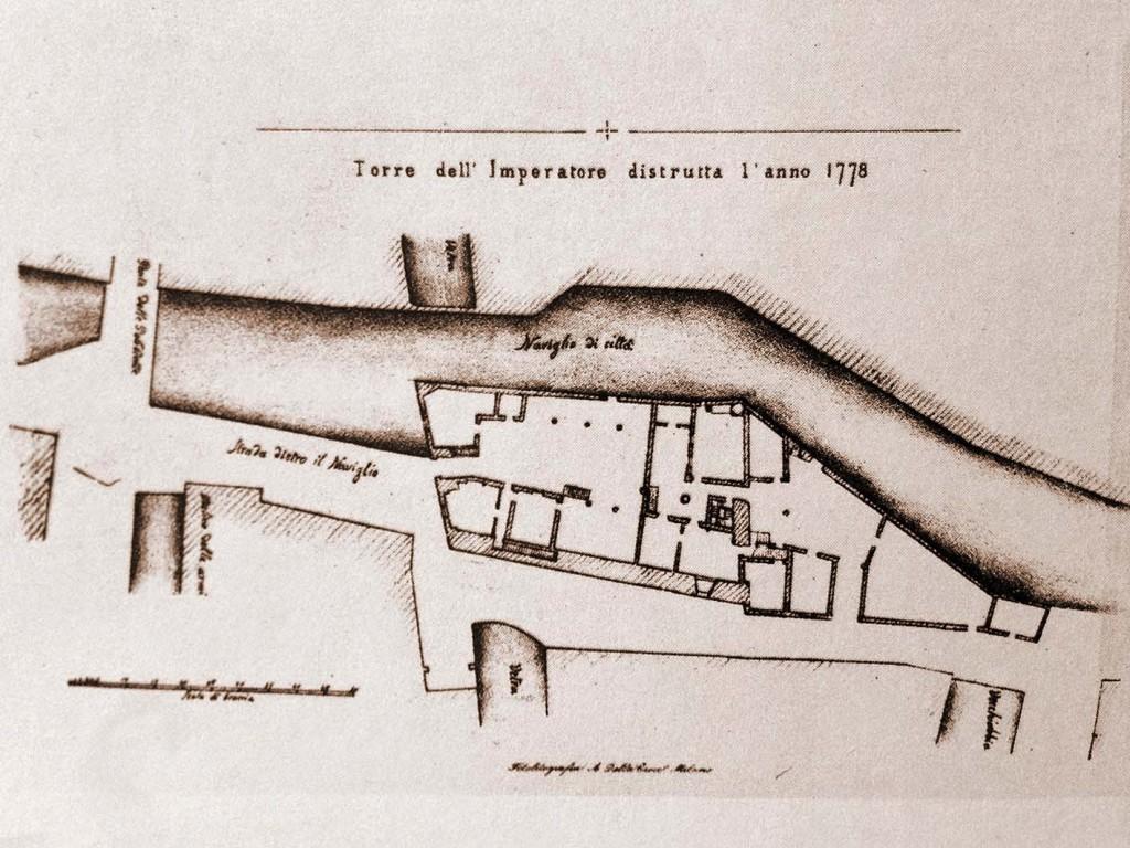 Piantina della torre dell'Imperatore 1790