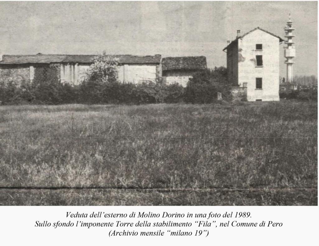La cascina Molino Dorino nel 1989 B