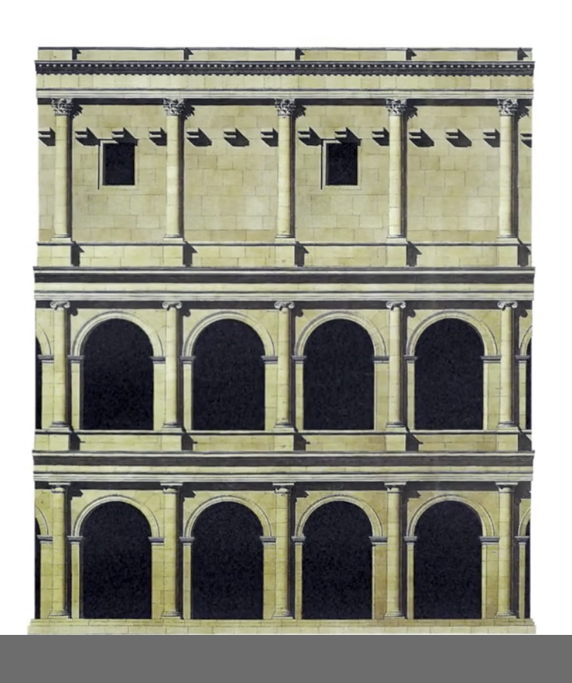 Piazza Affari e teatro romano 1 Facciata