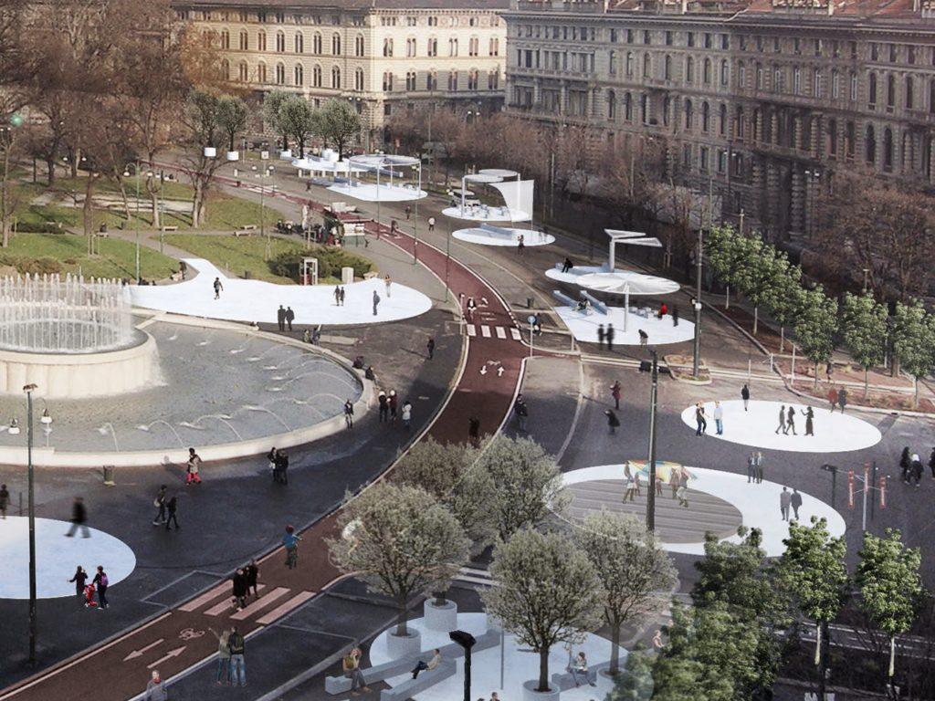 Piazza Castello NEVICATA14 Rendering 0C