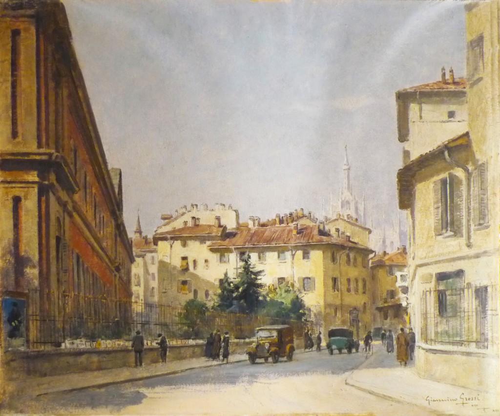 6-Via Laghetto con l'Università Statale nel 1934 di Giannino Grossi