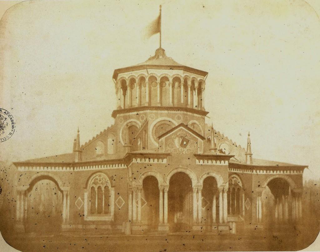 Luigi Sacchi foto al Padiglione eretto al rondò di Loreto in occasione della visita dell'Imperatore Francesco Giuseppe a Milano nel 1857