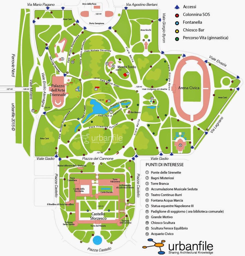 Parco Sempione Mappa copia