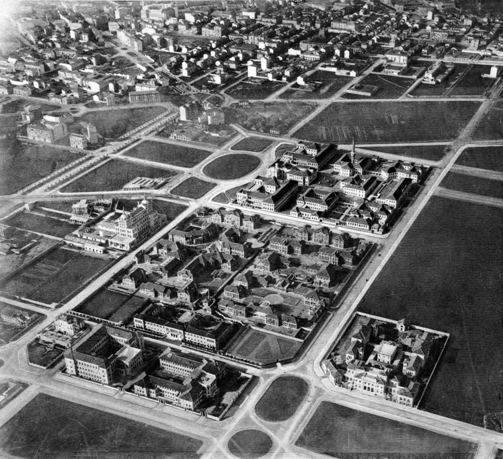 Città Studi foto aerea del 1929-30
