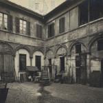 Corso Magenta Casa Atellani 1925 Cortile Nobile prima dei restauri Portaluppi