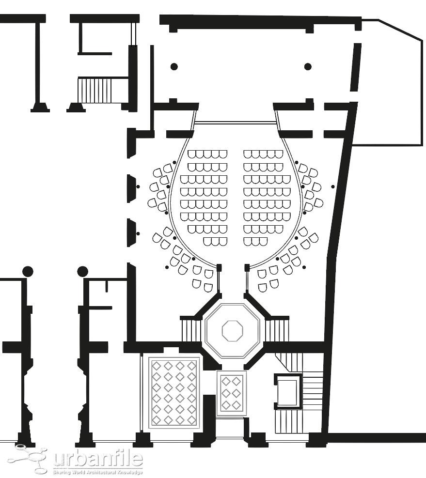 Pianta del progetto di restauro del Teatro Gerolamo