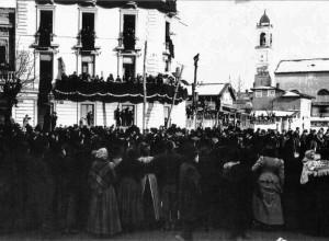 San Pietro in Sala, demolita nel 1910. Siamo nel 1901 il giorno dei funerali di Verdi 2