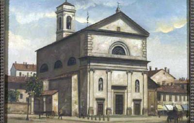 San Pietro in Sala in un dipinto Ottocentesco
