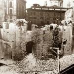 13_Piazza Missori particolare della demolizione della chiesa di San Giovanni in Conca intorno al 1950