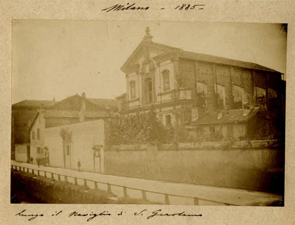 Monastero di S. Gerolamo lungo il naviglio, 1885