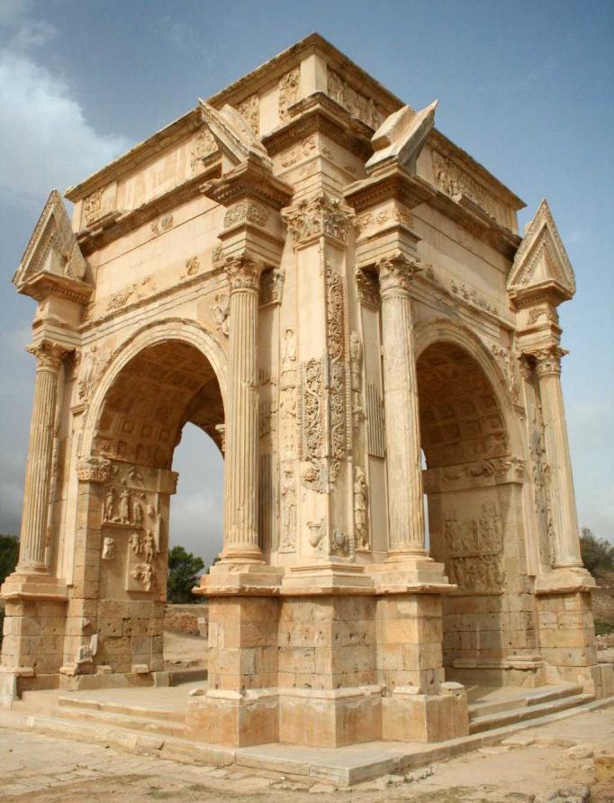 Tetrapilo o quadrarco di Settimio Severo, Leptis Magna, odierna Libia