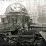 1918 - La Rinascente dopo l'incendio veduta cupolotto