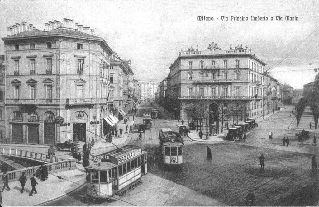 Piazza Cavour e via Principe Umberto ora Turati fine anni 20