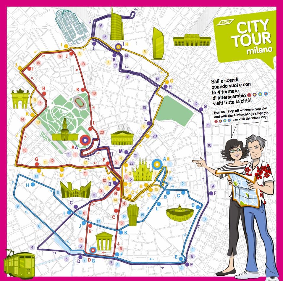 CityTour_Tram_Milano_Mappa