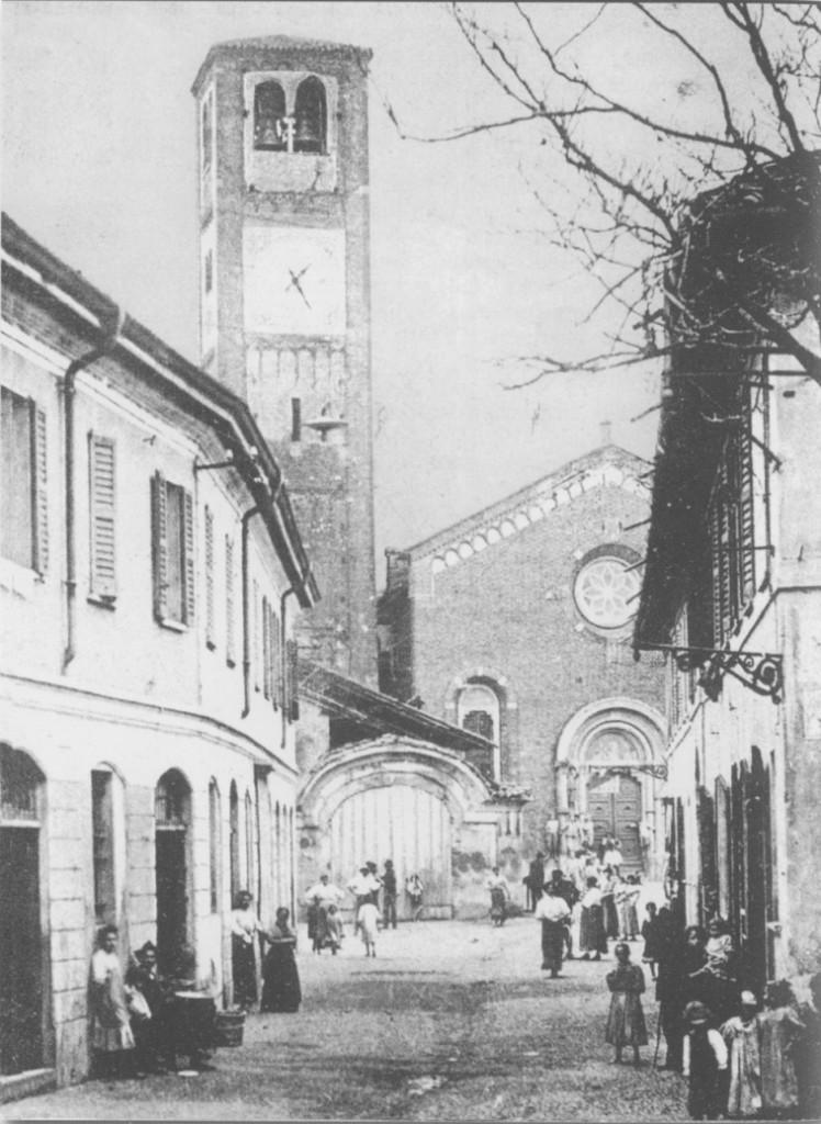 Baggio, via Anselmo da Baggio e Chiesa 1890